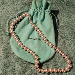Tiffany & Co silver beaded necklace
